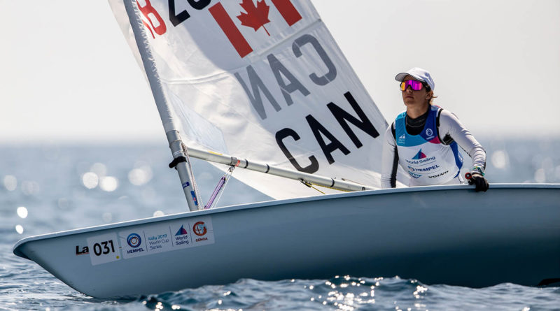 isabella-anna bertold competes in the laser radial in italy in april
